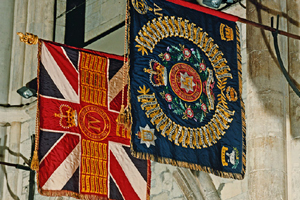 Colours of 3rd Battalion The Queen's Royal Surrey Regiment (TA)
