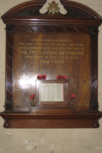 Memorial 23rd (County of London) Battalion TLR