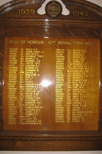 Memorial 42nd Royal Tank Regiment